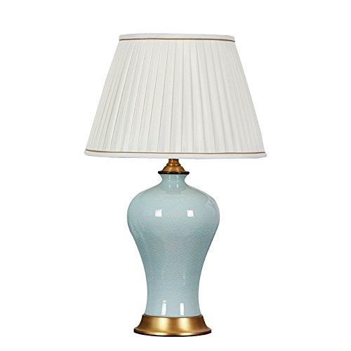 YONG SHOP- Moderne chinesische Stil Europäische Stil Voll Copper Base Keramik Tischlampe Wohnzimmer Schlafzimmer Study Zimmer E27 ( Farbe : 1# )