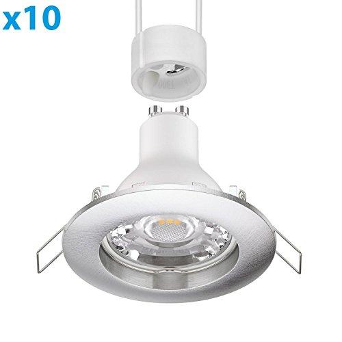 ledscom.de parlat LED Foco empotrable en el Techo CIRC crómico Mate GU10...