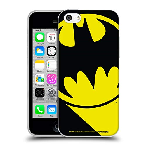 Head Case Designs Offizielle Batman DC Comics Bat Signal Logos Soft Gel Huelle kompatibel mit iPhone 5c (Bat 5c Phone Case)