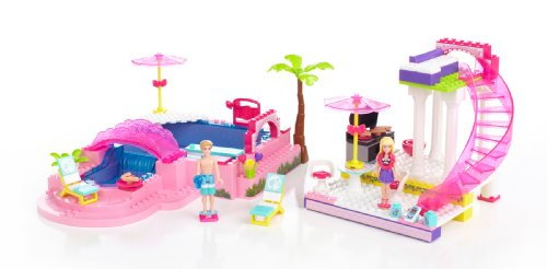 Mega bloks 80228 barbie festa in piscina 159 pezzi for Piscina di barbie