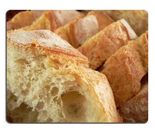 Mau Mat,Mauspad Brot Lebensmittel Bäckerei Frischer Weizen Naturkautschuk Material, 18x22cm