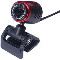 ASASOUYV HD Webcam Camera Computer Camera 2.0 USB HD Webcam Camera Web Cam with Mic for Computer PC Laptop Desktop Business (Black)