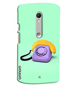 Omnam Vintage Telephone Painted Printed Designer Back Cover Case For Moto X Style