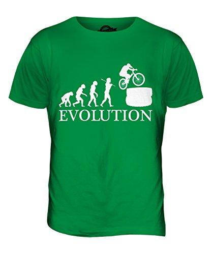 CandyMix Mountainbike Evolution Des Menschen Herren T Shirt Grün