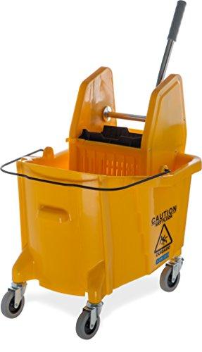 Carlisle 3690504comercial cubo de fregar con abajo prensa escurridor, 35Quart capacidad, amarillo