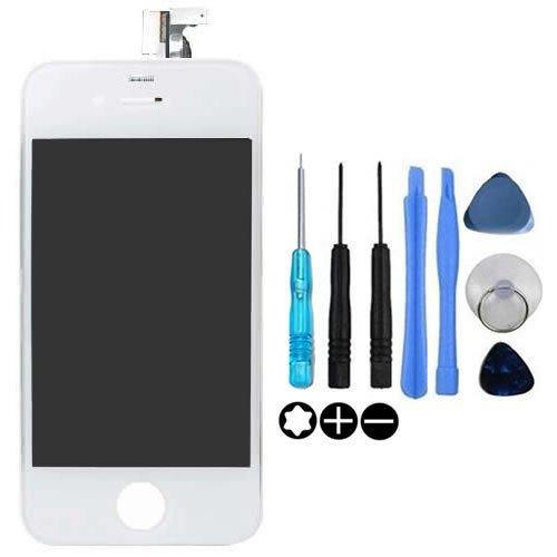 TechCode display full LCD + Touch Screen Digitizer vetro frontale e lenti per Apple iPhone 4 G~parti di ricambio (iPhone 4 white)