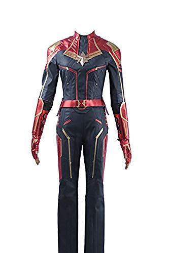 Cosplayfly Captain Marvel Carol Danvers Superhelden-Kostüm,Halloween-Kostüm,Maßgeschneiderte Damen