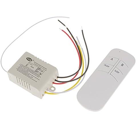 Gazechimp Lumière RF Commande à Distance Commutateur de Receiver + Emitter sans Fil 220V 1/2/3/4 Voies Wireless - un voie unique