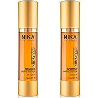 Siero effetto anti crespo all'olio d'argan 100 ml Nika fairy silk shimmmer hair e body 100ml promozione 50 ml x2 spedizione gratuita