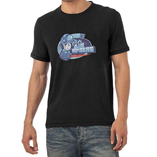 TEXLAB - Blue Bombers - Herren T-Shirt Schwarz