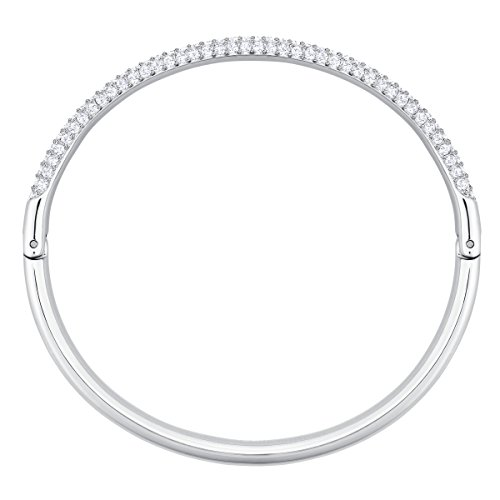Imagen de swarovski brazalete stone, baño de rodio, cristal blanco, para mujer alternativa