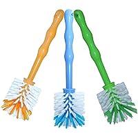 3er Pack Mixtopf Spülbürste mit Nylonborsten - ideal zum Reinigen von Mixtöpfen wie z.B. Thermomix ® TM5/TM31 und Mixtöpfe anderer Hersteller - je 1x in Blau/Grün/Orange