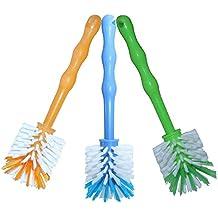 Paquete de 3 cepillos con cerdas de nailon para limpiar ollas como Thermomix ® TM5/