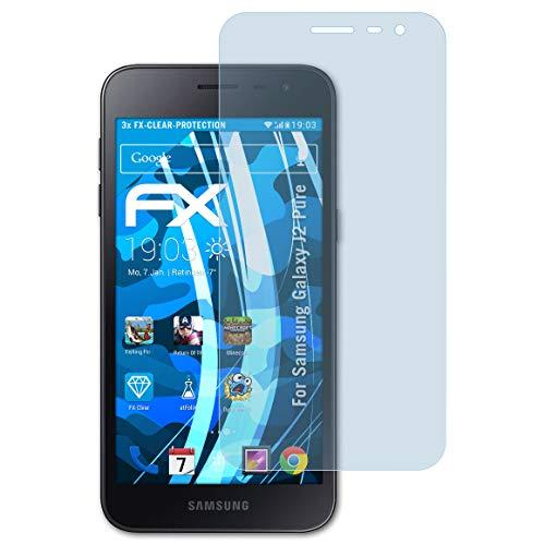 atFolix Schutzfolie kompatibel mit Samsung Galaxy J2 Pure Folie, ultraklare FX Bildschirmschutzfolie (3X)