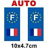 Autocollant plaque immatriculation drapeau france - Auto