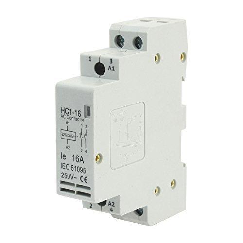 Sourcingmap - 220 / 240v bobina 16a 2 poli 2p domestico modulo ac contattore ac250v