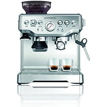 Espresso Siebträgermaschine mit integriertem Mahlwerk Gastroback 42612 S Design Espresso Advanced Pro GS