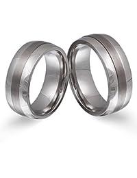Juwelier Schönschmied - Zwei Partnerringe Eheringe Hochzeitsringe Titanringe titan_steel inkl. persönliche Lasergravur LANrX2HH - Soulmate