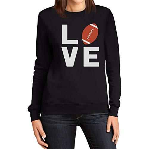 Love Football - Geschenk für American Football Fans Frauen Sweatshirt Medium Schwarz