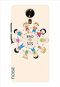 Noise Bro Love Sis-Beige Printed Cover for Micromax Canvas Xpress 2 E313