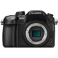 Panasonic Lumix DMC-GH4RE-K Fotocamera Mirrorless, Solo Corpo, 16 Megapixel, Schermo Touchscreen OLED, Wi-Fi, NFC, Nero