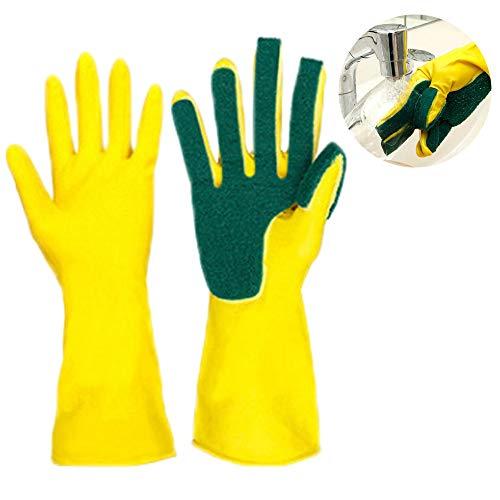 Guantes silicona lavar cocina esponja fregado, guantes