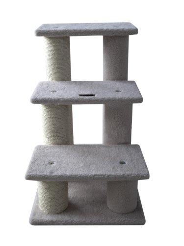 ARMARKAT Katzentreppe / Hundetreppe AC3001V mit dicken Kratzstämmen 63 cm hoch