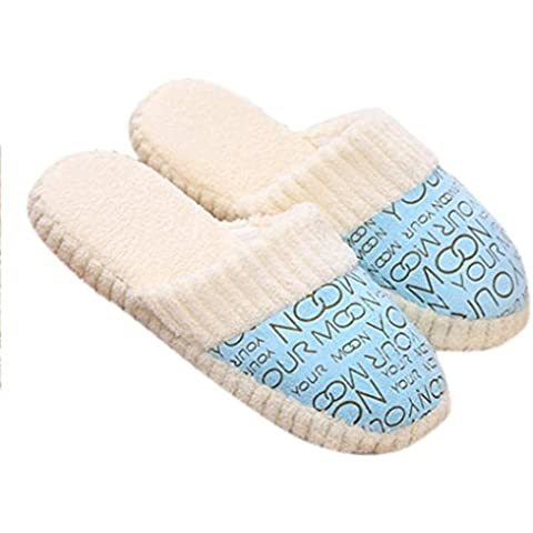 Amlaiworld Morbide pantofole per Donna,Scarpe Anti-scivolo cotone imbottito