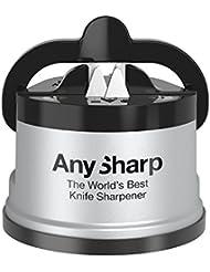 AnySharp Aiguiseur de Couteaux avec Ventouse Argent