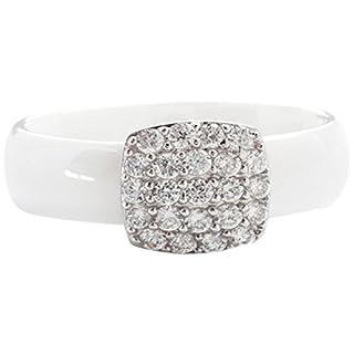Ceramic Prestige Damen Ring, Silber, Zirkonoxid, 48 (15.3), B613WAT48