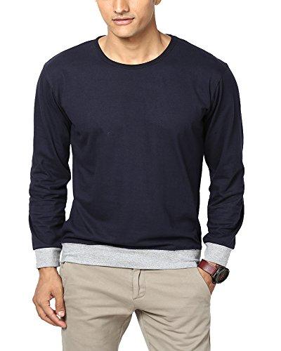 Unisopent Designs Men's Cotton T-Shirt(ROUNDNECK_Dark Navy_M)