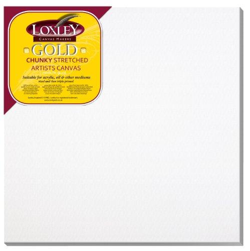 Loxley Gold LCC-2424 - Lienzo preestirado, color blanco