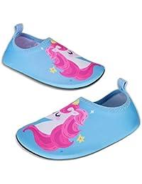 Kyopp Zapatos de agua para niños pequeños de secado rápido antideslizante Aqua Calcetines Niñas Niños para playa Natación Piscina