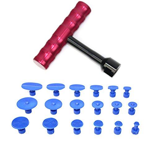 WINOMO SET Riparazione per ammaccature di automobile Ripara ammaccature auto in dimensione diversi con martello (18pcs)