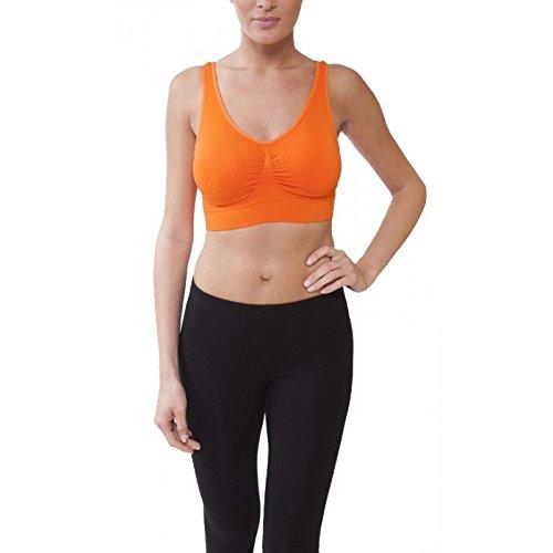 Midi Shopping - Lot de 2 Brassieres Sport Femme Orange