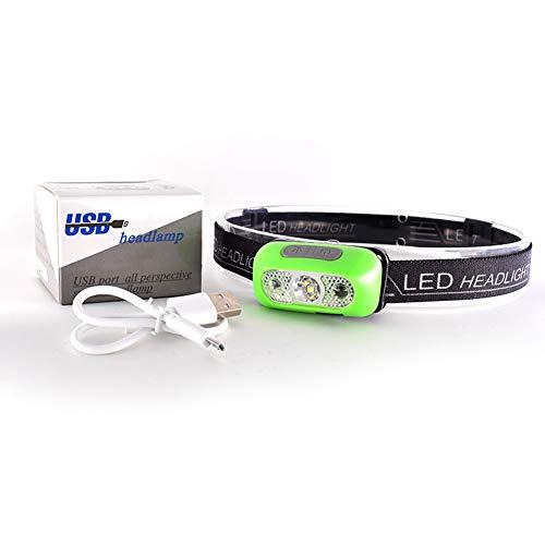 USB Wiederaufladbare Sensor Kopf Taschenlampe Wasserdichte LED Scheinwerfer GY