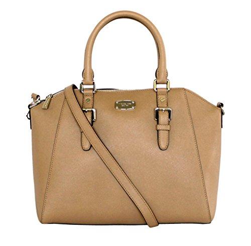 Michael Kors Ciara Large Top Zip Saffiano Leather Satchel (Top Zip-handtasche Large)