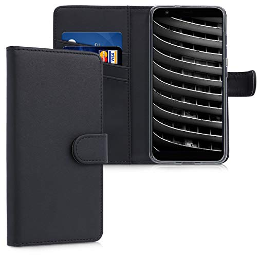 kwmobile Asus Zenfone Max Plus (M1) Hülle - Kunstleder Wallet Case für Asus Zenfone Max Plus (M1) mit Kartenfächern & Stand - Schwarz