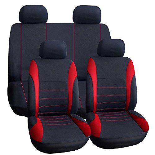 Auto Sitzbezug - TIROL Auto Sitzbezug Auto Innenraum Zubehoere Universal Stil Auto Adbeckung Rot