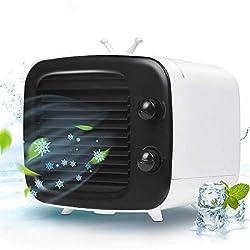 Climatisation Mobile Portable Mini Climatiseur USB Mini Refroidisseur D'air Ventilateur Humidificateur D'air Purificateur D'air Pour La Maison, Le Bureau, Les Voyages, Les Activités De Plein Air