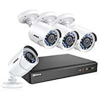 ANNKE 8+2CH 3.0MP 1920X1536 CCTV Security Systems and 4X 2.0MP Outdoor Cameras with IR, 66ft Night Vision, Motion Detection, Easy Remote Access, Email Alert with Snapshot, No Hard Drive