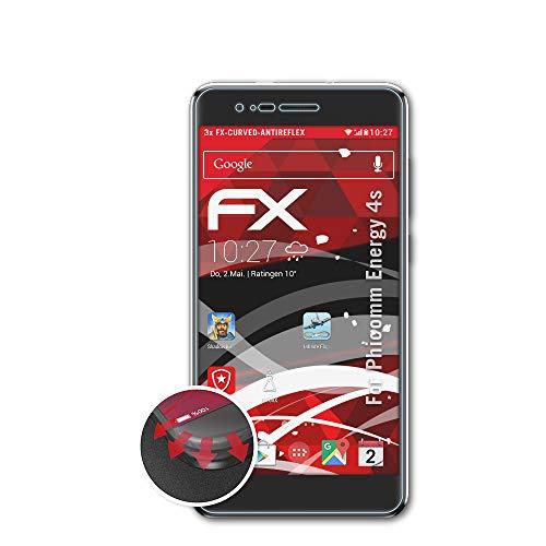 atFolix Schutzfolie passend für Phicomm Energy 4s Folie, entspiegelnde & Flexible FX Bildschirmschutzfolie (3X)
