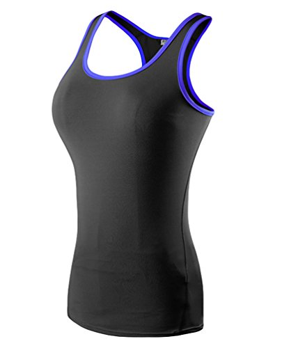 Zkoo donna sportivo camicia gilet quick-drying running yoga fitness tank top nerob xl