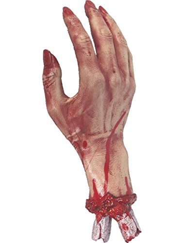 Smiffys Halloween Deko Kostüm Zubehör abgetrennte blutige Hand 30cm (Abgetrennte Hand Kostüm)