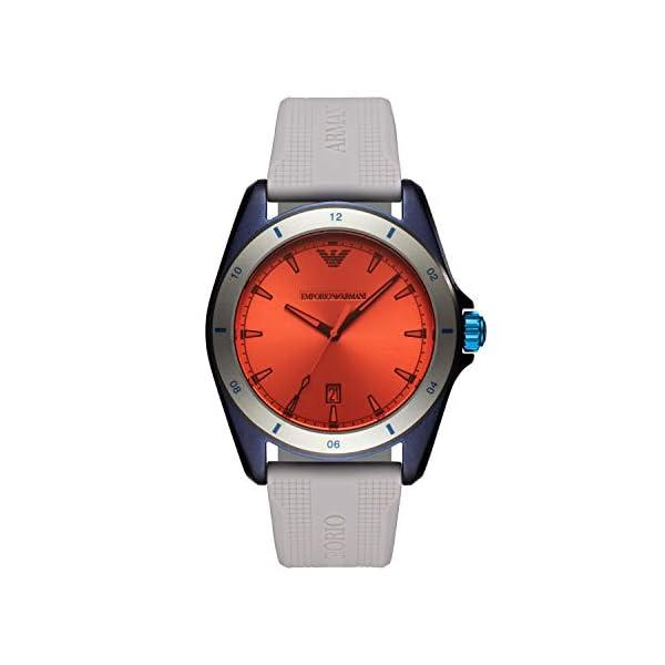 Emporio Armani Reloj Analógico para Hombre de Cuarzo con Correa en Silicona