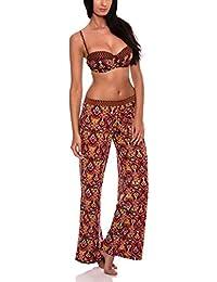 RELLECIGA plage pantalons pour femme avec gypsy l'impression numérique beach pants