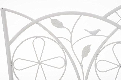CLP Metall-Gartenbank RIEF, Landhausstil, lackiertes Eisen, ca. 110 x 50 cm, Design nostalgisch antik Weiß - 3