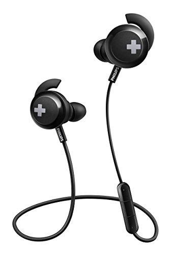 Philips SHB4305BK/00 In-Ears Kopfhörer (Bluetooth, voluminöse Bässe, Kabellos, Integriertes Mikrofon, 6 Stunden Akkulaufzeit) Schwarz -