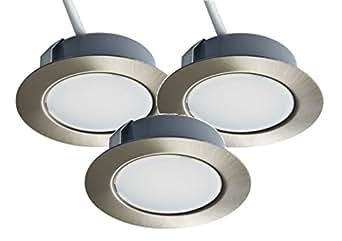 lot de 3 spots led encastrables trango tgg4e 012 de 12 v ac dc pour remplacer les lampes g4. Black Bedroom Furniture Sets. Home Design Ideas