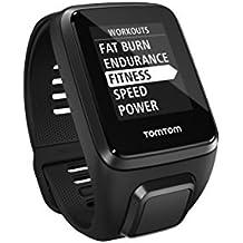 TomTom Spark 3 Orologio GPS per il Fitness, Activity Tracker 24/7, Cinturino Large, Nero